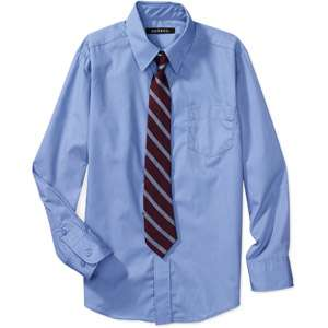 George   Boys Dress Shirt and Tie Set Boys