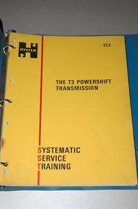 HYSTER FORKLIFT T3 TRANSMISSION SERVICE MANUAL BOOK