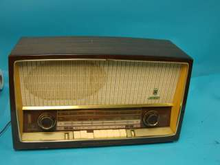Vtg Deco Grundig Majestic Table Top Tube Radio Model 3160 Eye Tube