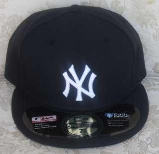 NEW ERA NEW YORK YANKEES BLACK WHITE CAP NY HAT 59FIFTY