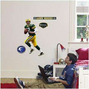 Aaron Rodgers Fathead Jr. Green Bay Packers Wall Sticker Decal