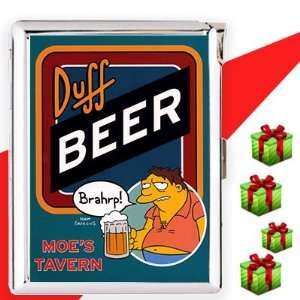 Buff Beer Brahrp Cigarette Case Lighter