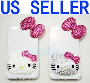3D Bling Hello Kitty Crystal Hard Case for AT&T and Verizon iPhone 4