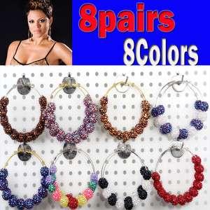 jewelry lots basketball wives Poparazzi Rhinestone beads ball earrings