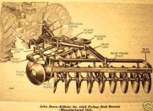 John Deere 416 416X Disk Parts Catalog tractor mntd jd