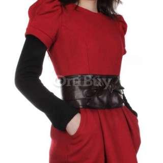 Lady Elastic Fashion Wide Waist Dress Band Belt Buckle
