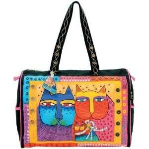 Laurel Burch Feline Family Travel Tote Bag