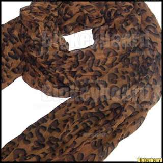 Celebrity Hot Large Animal Leopard Print Shawl Scarf Long Stole