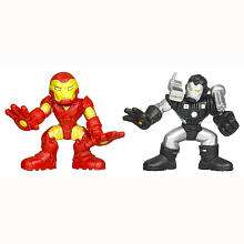 Marvel Super Hero Squad Action Figures   Iron Man and War Machine