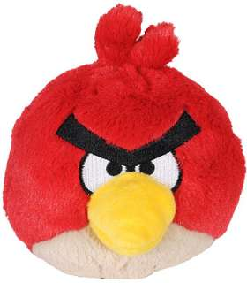 Angry Birds 5 inch Plush with Sound   Red   Commonwealth Toys   Toys