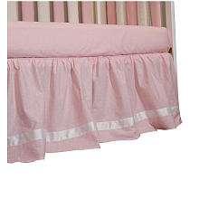 inch Pink and Cream Polka Dot Dust Ruffle   Go Mama Go   BabiesRUs
