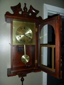 Wentworth 31 Day Spring Driven Mahogany wood Wall Regulator Clock