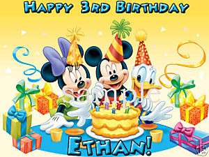 MICKEY MOUSE Custom Edible Image CAKE Topper Clubhouse