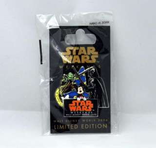 Disney Star Wars Weekends 2006 Pin Yoda/Darth/Mickey