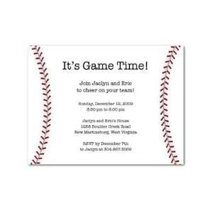 Party Invitations   Game Time Baseball By Shd2 Health