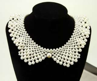 Pearl Collar Necklace Fashion Jewellery Elegant Neck Lady White