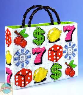 Plastic Canvas Kit ~ Lady Luck Vegas Slots Tote Bag