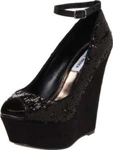Womens Shoes NIB Steve Madden XTRA Wedge Platform Heels Sandals Black