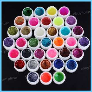 Glitter Powder Nail Art UV Builder Gel Nail Tips DIY Decorations