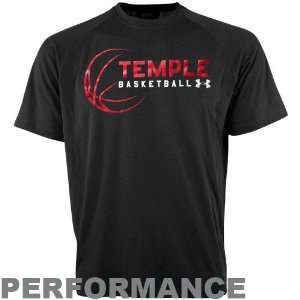 Under Armour Temple Owls Black Basketball Tech Performance