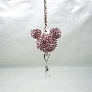 Bling Micky Pink Retractable ID/IC Badge Holder