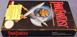 Nintendo NES Original Final Fantasy Game MIB Special Warrantee Offer