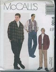 9100 patron couture chemise gilet pantalon homme
