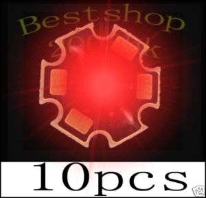 10pcs 80Lm 3W High Power Red LED 3Watt light
