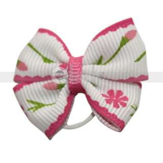 Headdress Flower Bowknot Pet Dog Cat Grooming Bows