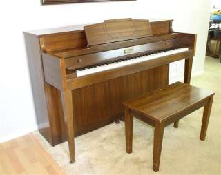JASPER AMERICAN Upright CONSOLE PIANO w/ BENCH Lovely Tone!