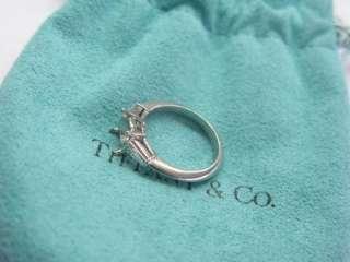 Tiffany & Co Platinum Diamond Mounting Ring .48CT