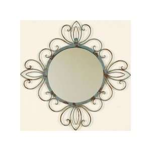 Ashton Sutton 10F1832 Round Metal Verdegirs Wall Mirror