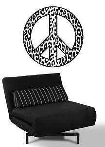 PEACE SIGN ANIMAL PRINT PATTERN LEOPARD Wall Decal Sticker, Highest