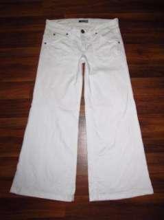 Womens Hudson Deluxe Wide Leg Triangle Flap Pocket Trouser Jeans 29 x