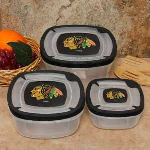 Chicago Blackhawks Plastic Food Storage Container Set