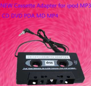 Car AUX Audio Cassette Tape Adapter for iPhone 4 4S 4G 3G iPod MP3 CD