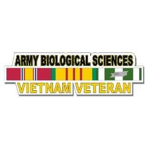 US Army Biological Sciences Vietnam Veteran Window Strip Decal Sticker