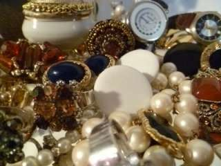 VINTAGE ESTATE JEWELRY LOT SIGNED TRIFARI PREMIER DESIGN ITALY + 85