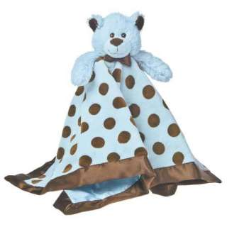 NEW Mary Meyer BLUE BROWN Dot Baby SECURITY BLANKET Boy