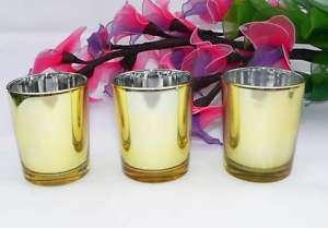 160 gold votive candle shot glass tealight holder BULK