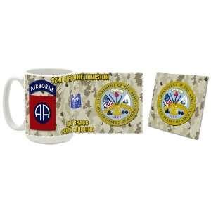 US Army 82nd Airborne Division Coffee Mug/Coaster Kitchen