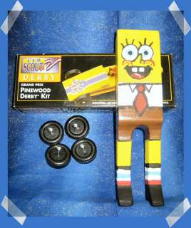 PINEWOOD DERBY SPONGE BOB CAR KIT CUB SCOUT BSA