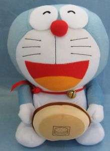 Anime Tomy Nintendo Plush Blue Robot Happy Cat w Hamburger