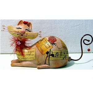 Enesco Fanciful Feline Love Letters Cat Figurine Bank