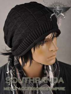 AM002 Men Black Beanie Skull Ski Winter Soft Hat Cap