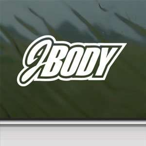 Jbody White Sticker Car Window Vinyl Laptop White Decal