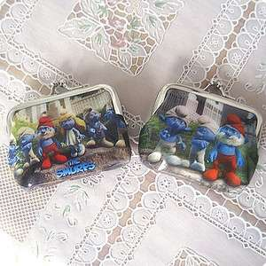 1pc The Smurfs PVC Wallet Coin Bag Pouch Purse Charms