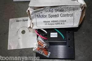 KB ELECTRONICS KBWC 112LK SOLID STATE MOTOR SPEED CONTROL NIB