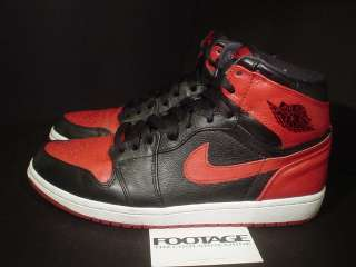 2011 Nike Air Jordan I Retro 1 High BAN BANNED BLACK VARSITY RED WHITE