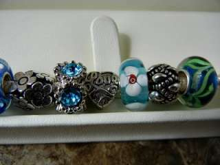 AUTHENTIC PANDORA .925 STERLING SILVER BRACELET MOTHERS DAY TURQUOISE